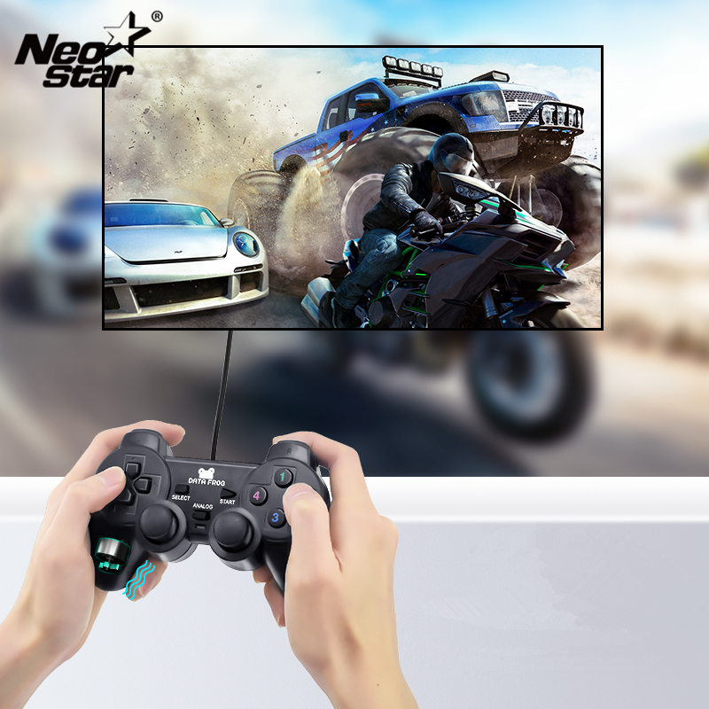 NEO STAR Wired USB Gaming Joypad Joystick Controller For PC Computer Laptop Black Game Console With Vibration For WinXP 7 8 10