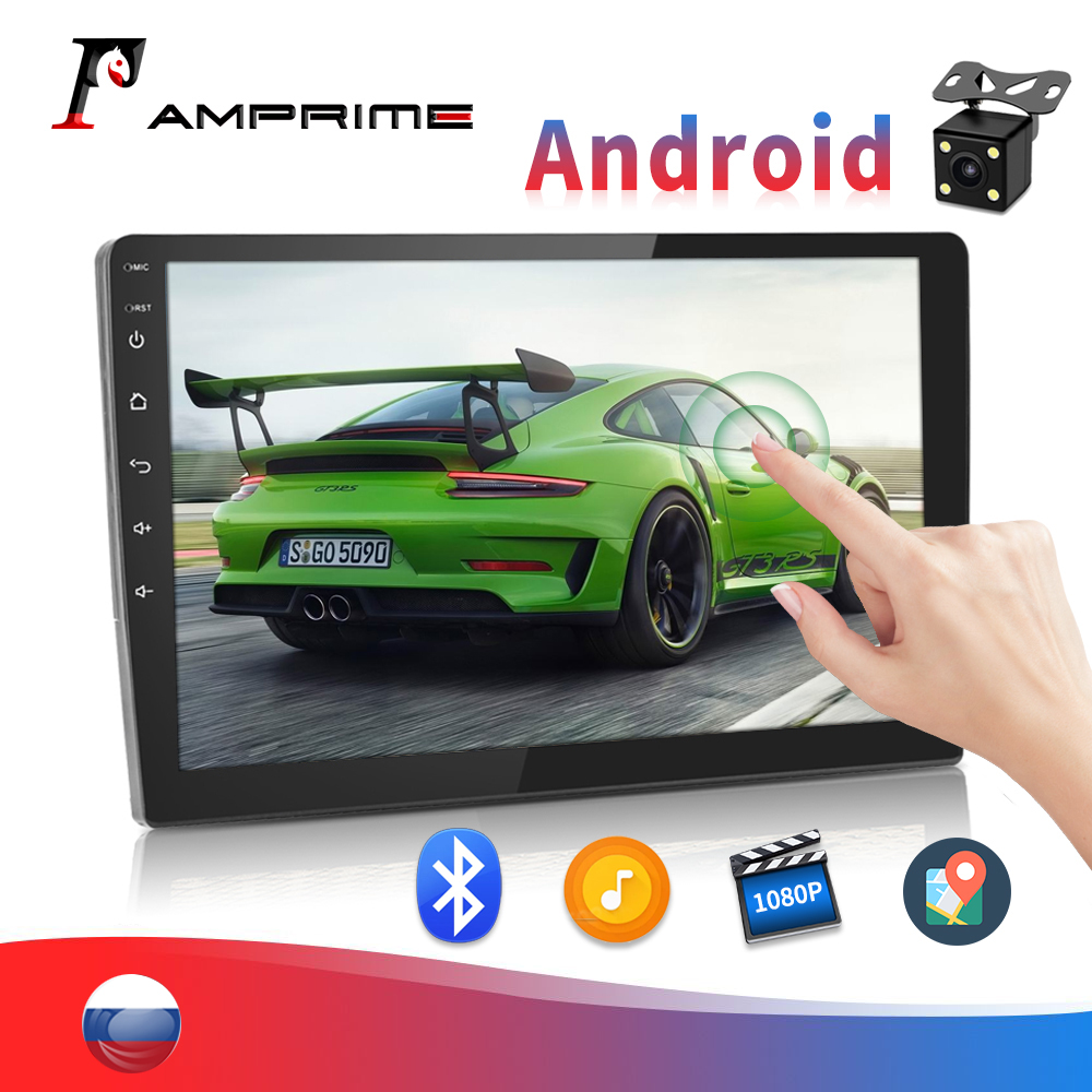 AMPrime 2 Din Android 9'' Car Radio Multimedia Video Player Auto Stereo GPS MAP FM Mirror Link For Volkswagen Nissan Autoradio