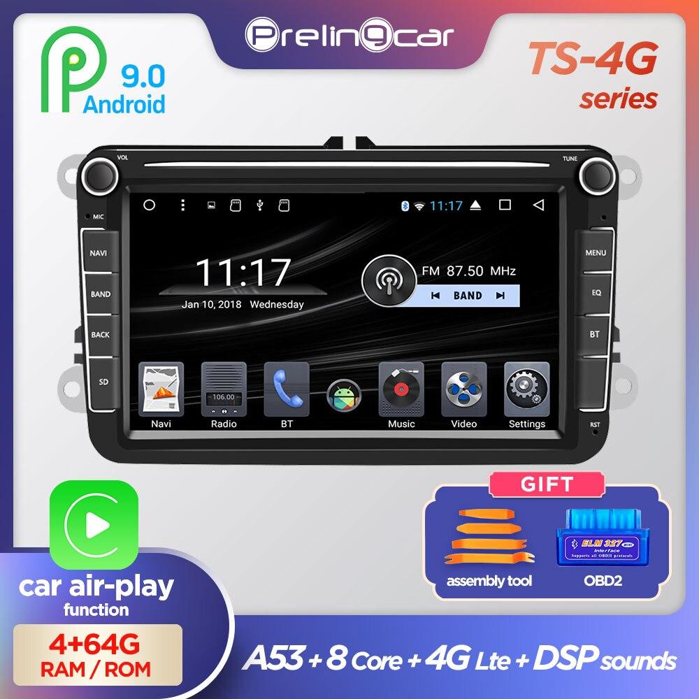 Android 9.0 4G Multimedia Player 2 Din Car DVD For VW/Volkswagen/Golf/Polo/Tiguan/Passat/b7/b6/SEAT/leon/Skoda/Octavia Radio GPS