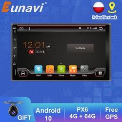 Eunavi 2 Din Car Radio Multimedia Player Android10 Universal 7'' HD Auto Audio Stereo GPS tracker 2Din WIFI DSP 4G RAM NO DVD BT