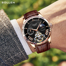 Solon watch men's mechanical watch automatic waterproof hollow belt 2020 mechanical men's watch(China)