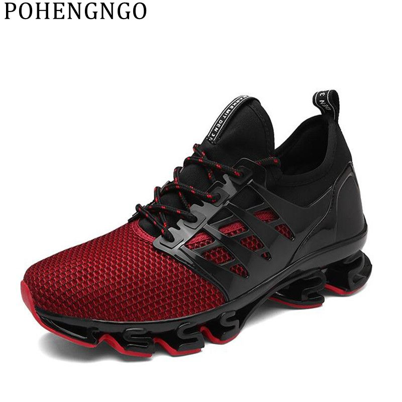 Mens Blade Sports Shoes Sneakers Athletic Trainers Big Size Running Springblade