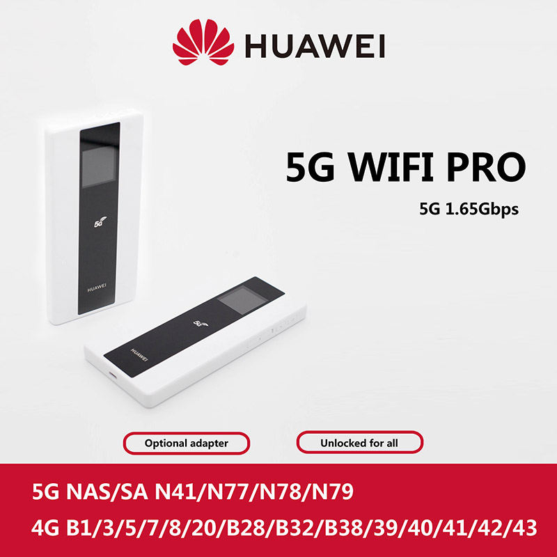 Huawei 5G Router Mobile WiFi Pro E6878-370 Huawei 5G MIFI Hotspot Wireless Access Point Mobile WiFi E6878-870 NA And NSA Modes