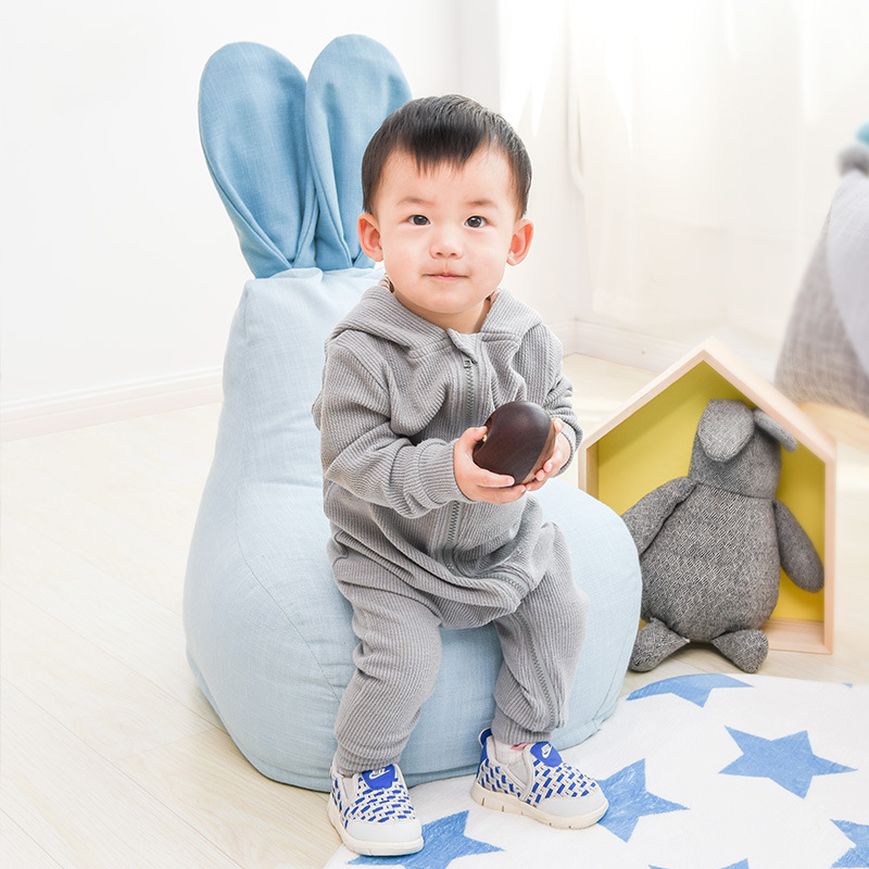 Cute Rabbit Child Bean Bag Chair Cover Lounger Bean Bag Sofa Bed Tatami Pouf Bedroom Living Room Furniture Puff Asiento Puff