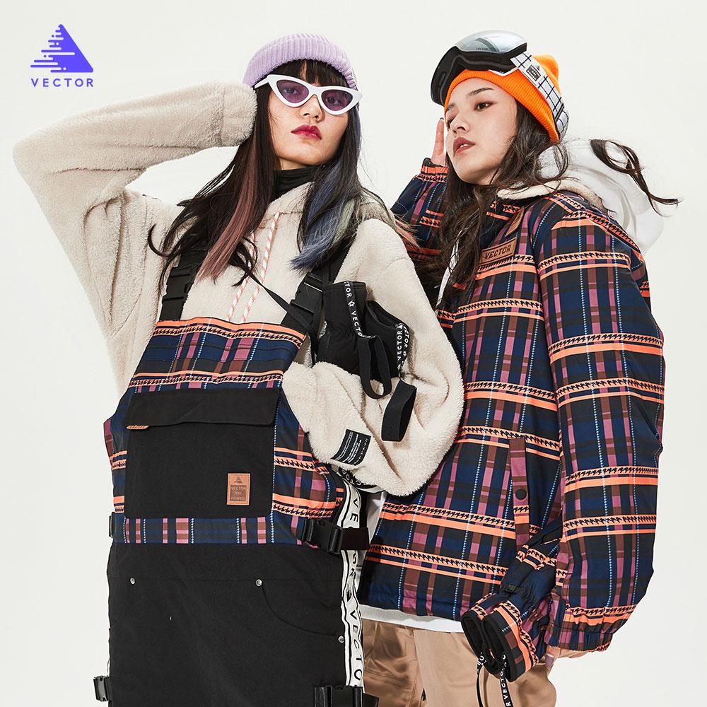 Лыжный костюм для мужчин и женщин, комбинезон, куртка, Двусторонняя куртка, зимний теплый ветрозащитный водонепроницаемый спортивный комби...