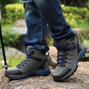 Image 5 - Phụ Nữ Núi Giày Chống Nước Thể Thao Ngoài Trời Giày Leo Núi Nam Đi Đào Tạo Giày Bọc Chống Trượt Mặc Săn Bắn Giày