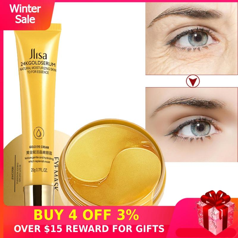 Ageless Eye Patch 60PCS Collagen Gold Anti-Wrinkles Hydrogel Eyes Mask Cream Dark Circles Bags Anti Aging Sleeping Gel Patches P