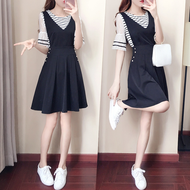 WOMEN'S Dress 2019 Summer New Style Korean-style Fashion Small Fresh A- Line Camisole Skirt 9009