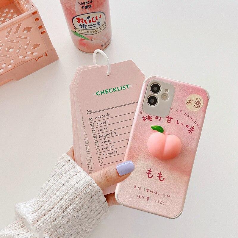 Kawaii Peach iPhone Case 1
