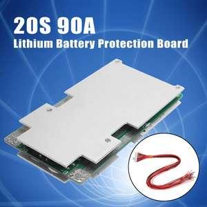 Pwb da placa de proteção da bateria de lítio de bms pcm para li-ion 18650 com acessórios 20 s 72 v 90a da carga do equilíbrio