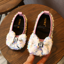 Spring autumn girls shoes rhinestones high heels children princess crystal sequins single pump size 21-30