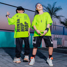 Ropa Hip Hop Dance Kids Clothes Green Sweatshirt Loose Street Dancing Outfit Black Hip Hop Pants Boys American Clothing BL4287(China)