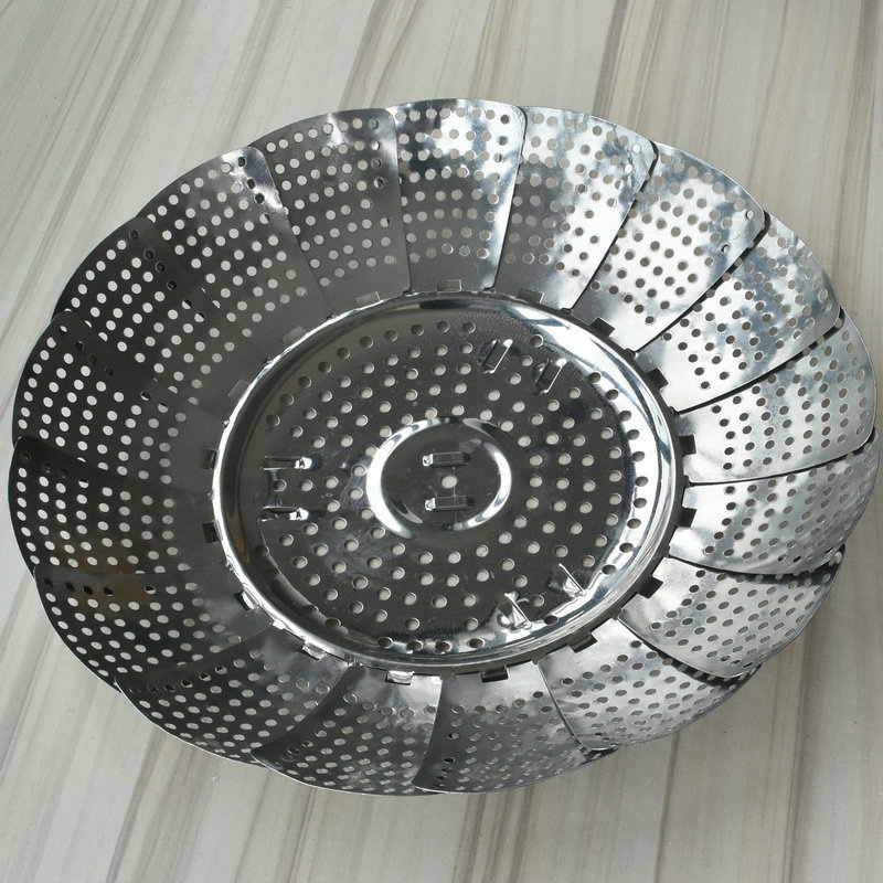 Stainless Steel Steamer Tray Lotus Folding Steamer Tray Variety Fruit Tray Tetractable Multipurpose Steamer Magic Fruit Tray