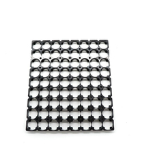 15pcs/lot MasterFire 8*9 18650 Batteries Spacer Radiating Holder Bracket Black Plastic Battery Storage Box Holder Brackets