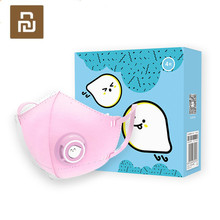 Youpin AIRPOP ağız yüz maskesi çocuklar solunum Anti pus Anti toz nefes maskesi solunum valfi ağız muffle PM2.5 yüz maskeleri