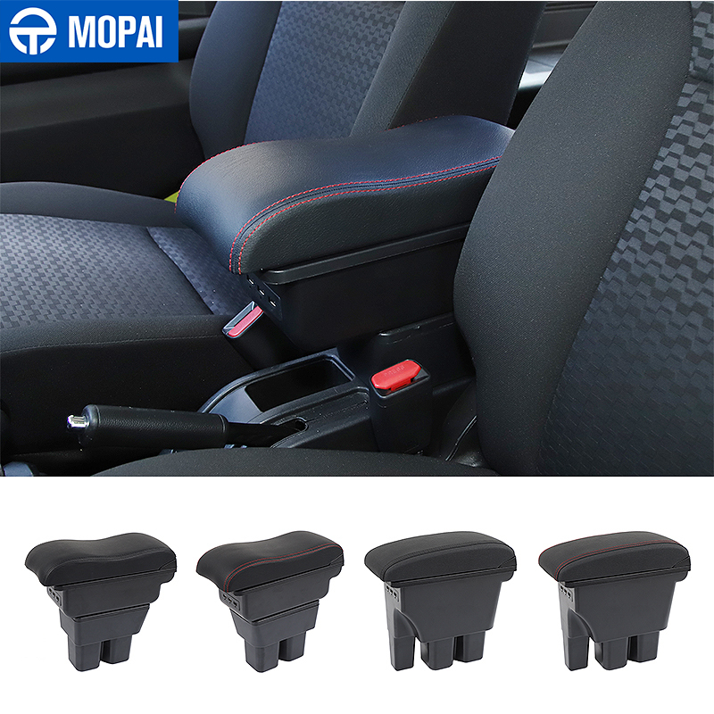 MOPAI Stowing Tidying for Suzuki Jimny JB74 Car Armrest Box Storage Box Car Interior Accessories USB for Suzuki Jimny 2019+