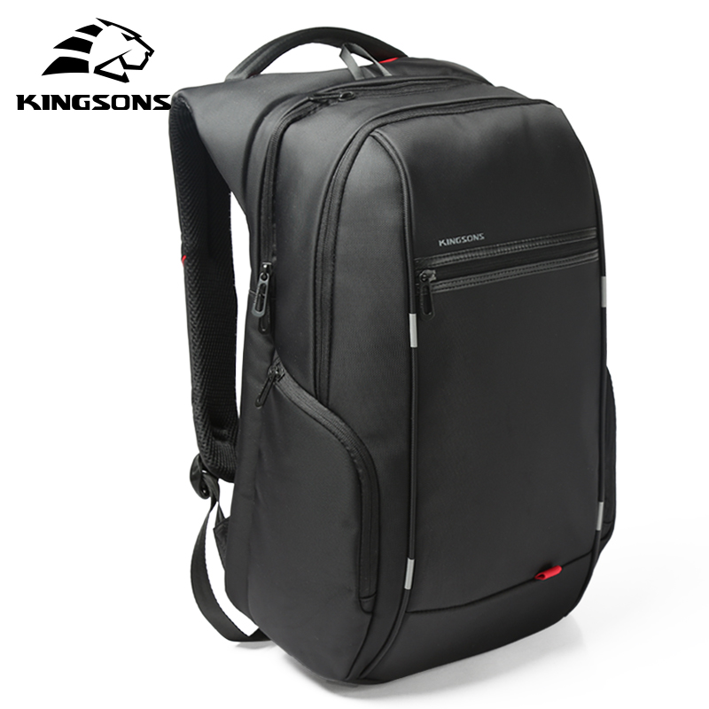 Kingsons Multifunction USB Charging Men 15 17 Inch Laptop Backpacks For Teenager Fashion Male Mochila Travel Backpack Anti-theft