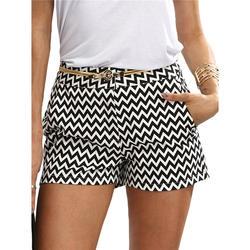 Новинка, модные клетчатые шорты, женские шорты, летние, черные и белые, средняя талия, повседневные, с карманами, прямые шорты, хит продаж