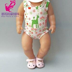 Pasuje do 43cm ubrania dla lalki renifer boże narodzenie odzież dla dziecka nowo narodzonych ubrania dla lalek pajacyki lalki strój świąteczny
