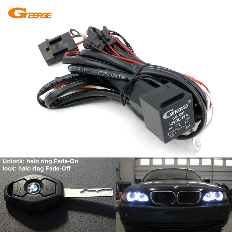 Relay Wiring Harness Kit For BMW Angel Eyes Halo Rings LED or CCFL Relay  Harness w/ Fade on Fade off Features|kit kits|kit bmwkit led - AliExpressAliExpress