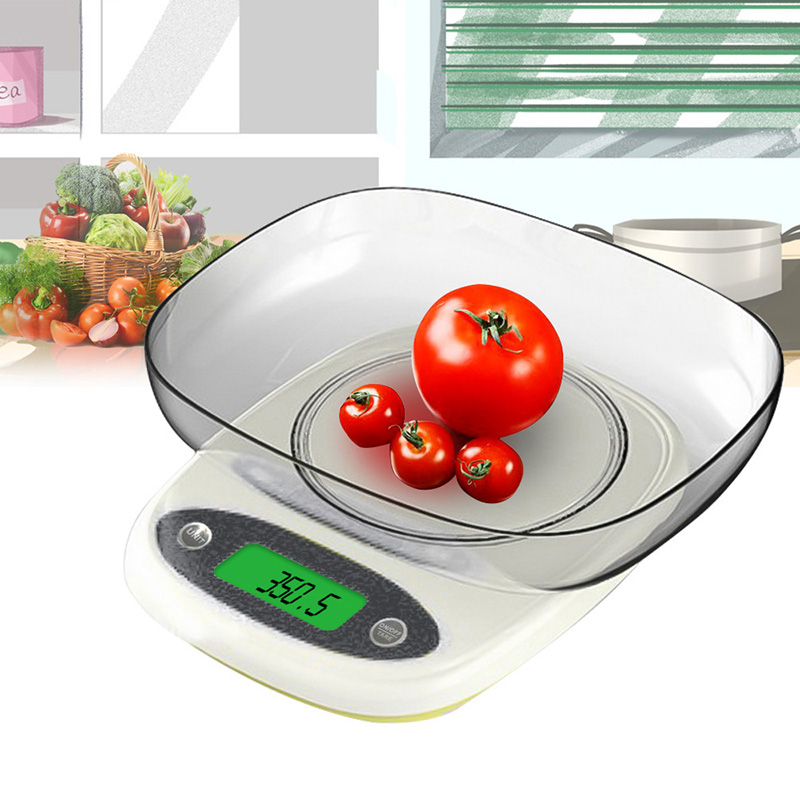 Three-precision Digital Scale LED Electronic Food Scale For Baking Cooking Backlight Display Scales 3kg/0.1g 7kg/1g