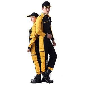 Vestuário de trabalho das mulheres dos homens macacão de trabalho reparação automóvel uniformes dos trabalhadores da beleza do carro alta qualidade unisex macacão plus size S-5XL
