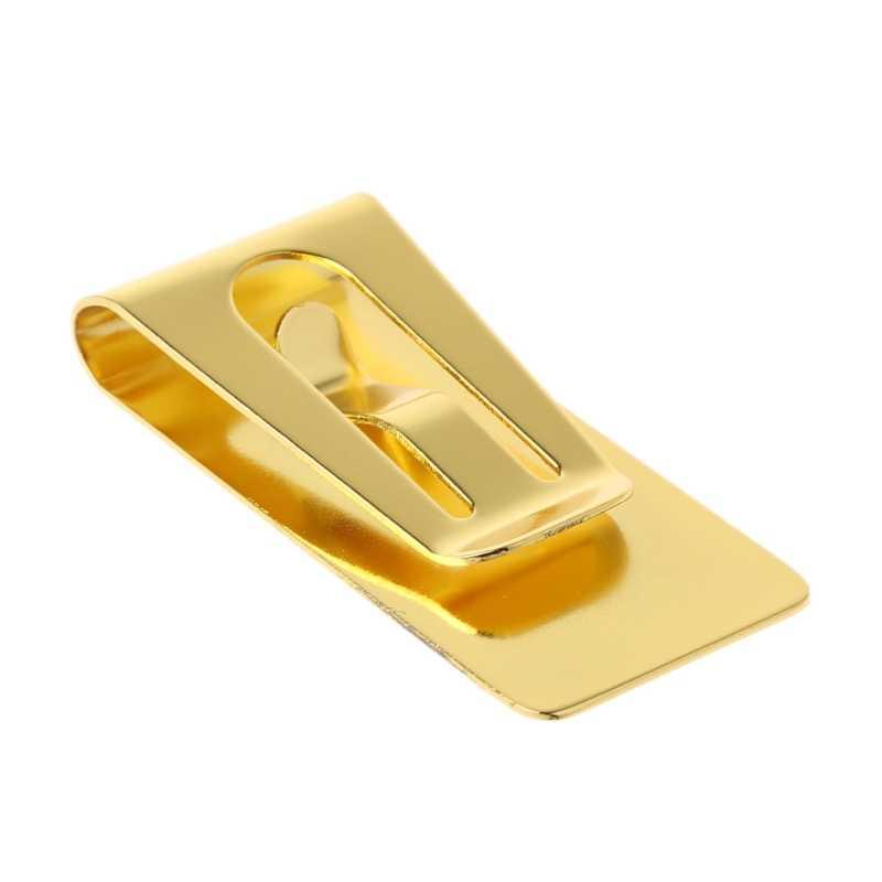 Тонкий мужской кошелек из нержавеющей стали, зажим для денег, кошелек, держатель для кредитных карт