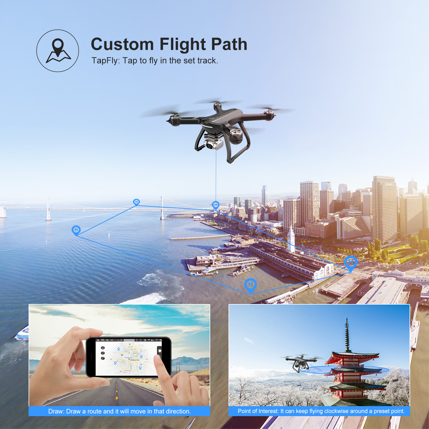 Professional Drone-2K FHD Camera-WI-Fi FPV Live Video-GPS-5GHz RC Quadcopter-3