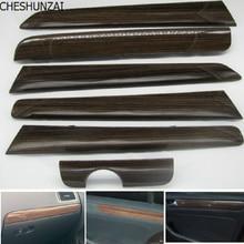 CHESHUNZAI 6 шт. Дверная панель тире отделка набор цвет дерева для VW Vento Jetta MK6 2012- TDI 16D 858 415 16D858415