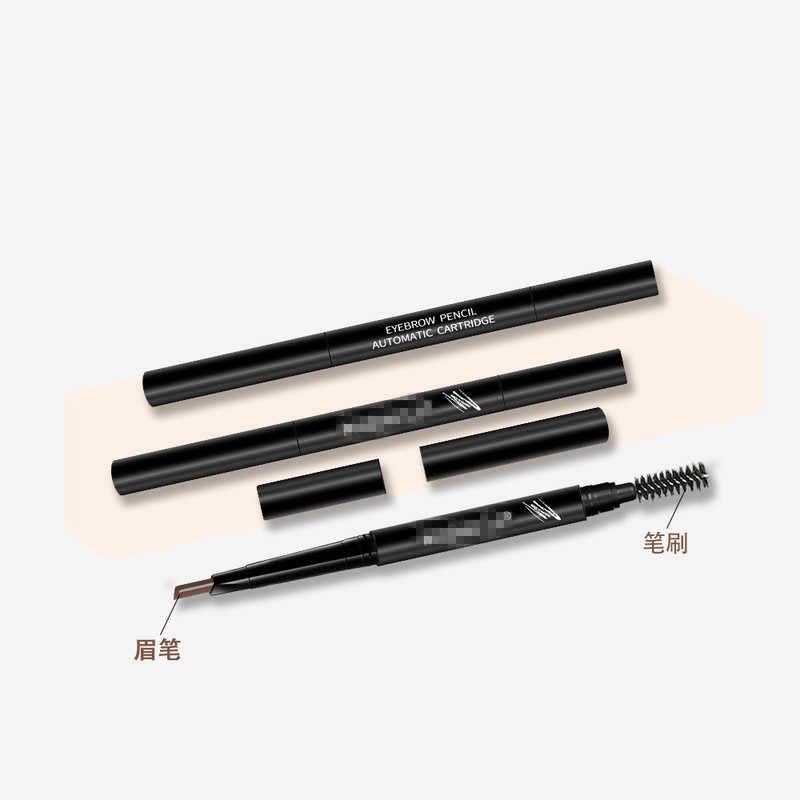 Augenbraue Bleistift Natürliche Wasserdicht Rotating Automatische Eyeliner Eye Stirn Bleistift mit Pinsel Schönheit Kosmetische Werkzeug