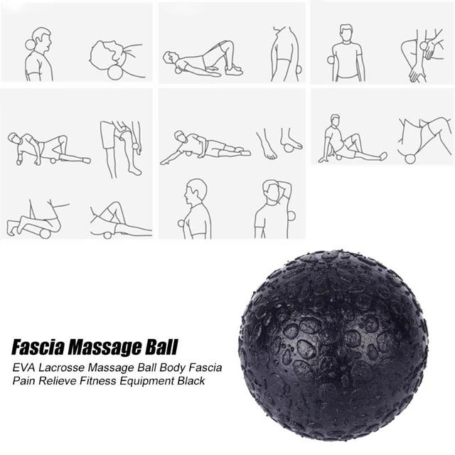 2PCS Fitness Massage Lacrosse Ball EPP Hard Foot Relax Relieve Fatigue Gym Training Pain Relief Fascia