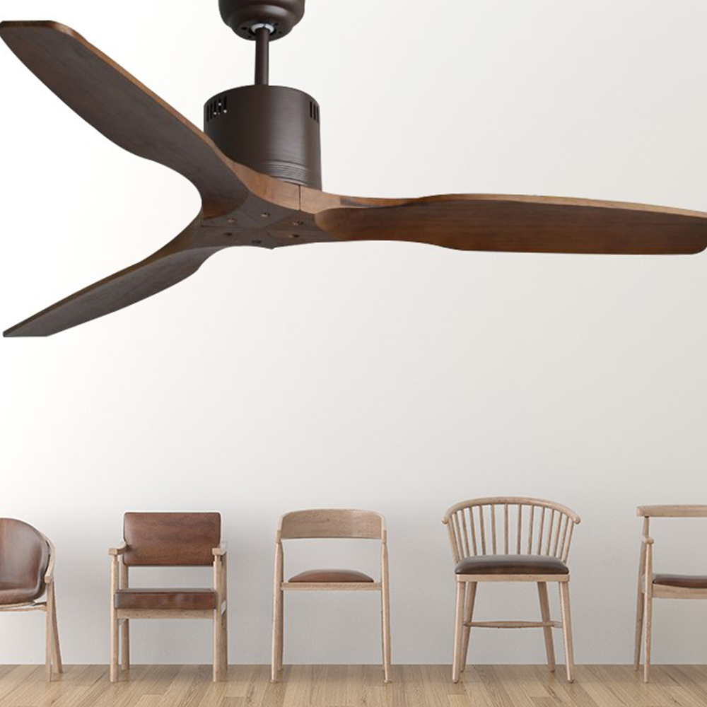 European Luxury Ceiling Fan With Remote Control 3 Wooden Blades Attic Without Light Fans Dining Room Lamp Fan Modern Nordic Ceiling Fans Aliexpress