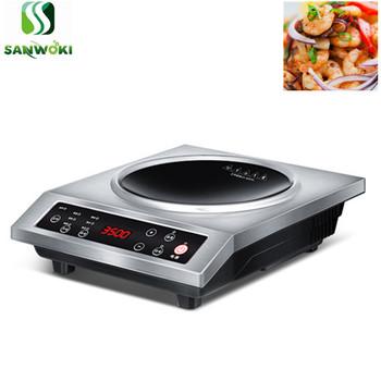 3500W wklęsła kuchenka elektromagnetyczna kuchenka indukcyjna kuchenka elektryczna Hotpot ogrzewanie kuchenka zupa Stir-fry kuchenka do gotowania tanie i dobre opinie SANWOKI CE UE SA-BC-3500A 220v 350*425*100mm