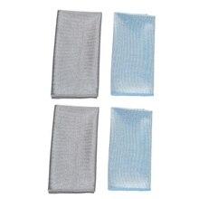 4 Teile/satz Mikrofaser Lint freies Reinigung Tücher für Wein Gläser Windows Spiegel Küche Bar Glaswaren Abwischen Handtücher