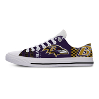 Ravens Classic Canvas Lightweight Fashion Men/Women Casual Shoes Breathable Flat Leisure Sneakers For Baltimore Football Fans