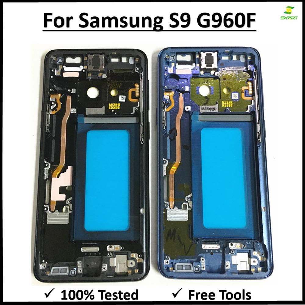 Midplate Bezel Chassis Housing With Side Button Middle Frame Metal Mid Plate Housing Bezel For Samsung Galaxy S9 G960 G960F