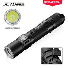 JETBeam 1800LM Powerful Tactical LED Flashlight Cree XHP35 LED Torch Light Lamp Professional Outdoor Auxiliary Flashlight