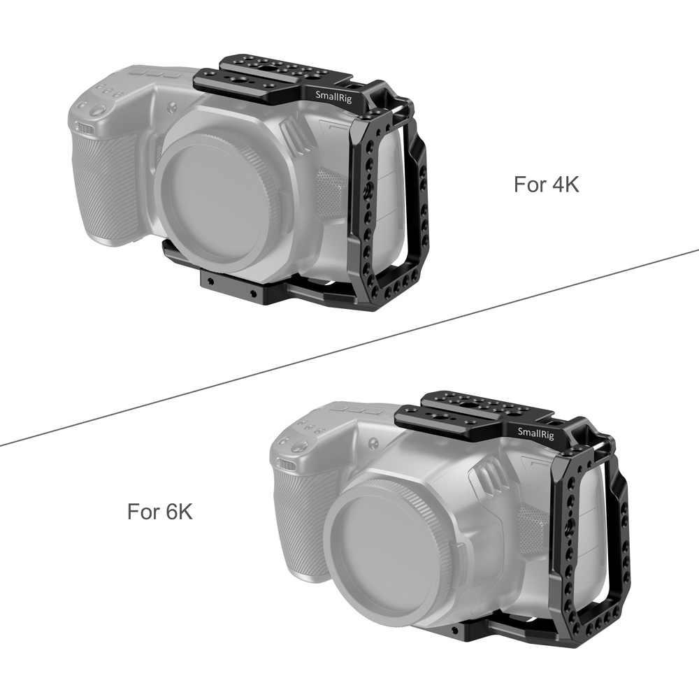 SmallRig BMPCC 4K / BMPCC 6K Kamera Käfig Halb Käfig für Blackmagic Design Tasche Kino Kamera 4K / 6K Funktion w/ Nato schiene 2254