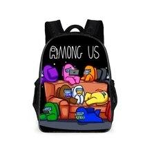 Pupil-Backpack Figure Among Anime Children Travel-Bag Waterproof Nylon Us-Game Christmas-Gifts
