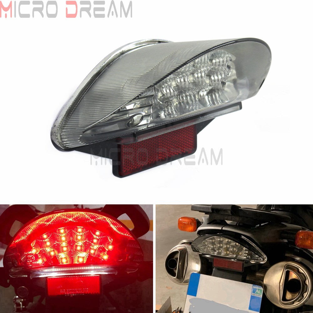 E Mark E4 Red 16PCS LED Tail Light Rear Light Clear Lens Reflector Stop Brake Lamp For BMW F650 F650 GS F650 ST F800 ST R1200 GS image