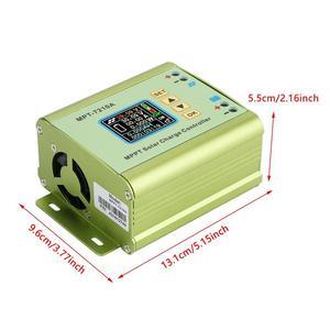 Image 5 - Controlador de carga Solar MPPT LCD DC DC 24V, 36V, 48V, 60V, 72V, 0 10A, regulador de refuerzo de batería de litio ajustable, MPT 7210A