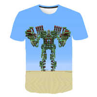 Camiseta de juego Virtual de dibujos animados para niños, ropa de calle con estampado en 3D para chicas, ropa acogedora, camiseta divertida de moda para bebés con cuello redondo