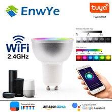 EnwYe – ampoule connectée WiFi, lampe LED, 5W RGB + WW + CW, Support Tuya Google Home, télécommande vocale IFTTT, GU10