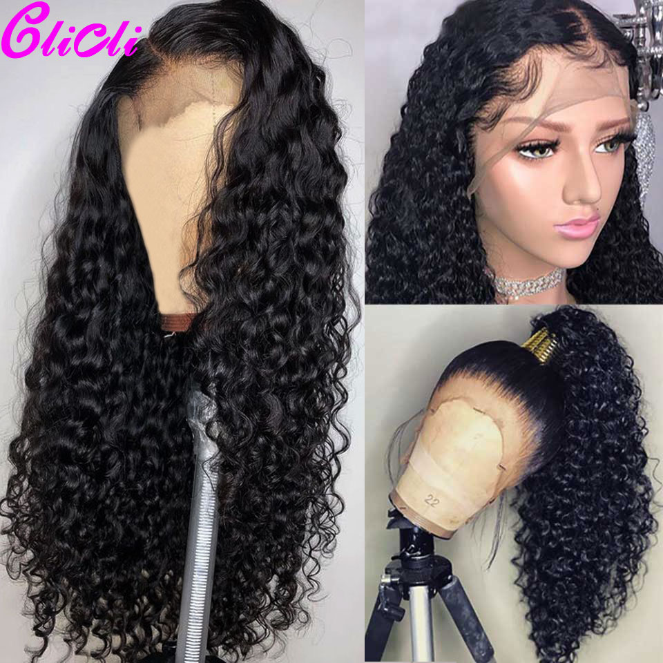 13x6 360 Transparent Lace Frontal Wig Curly Human Hair 13x4 Lace Front Wigs 28 Inch Pre Plucked Remy Peruvian Wigs 150%