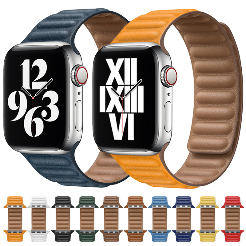 De enlace correa para Apple Watch SERIE DE gomillas 6 5 4 3 2 1 44mm 40, 42mm, 38mm Original reloj de pulsera lazo brazalete iPhone 6 4 3