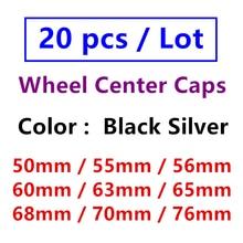 20 шт., колпачки на ступицы колеса, 50 мм, 55 мм, 56 мм, 60 мм, 63 мм, 65 мм, 68 мм, 70 мм, 76 мм