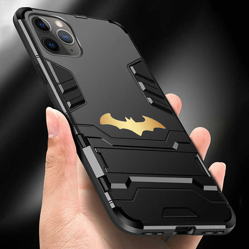 Bat Magnetik Kickstand Case untuk Samsung Galaxy S10 Catatan 10 A50 A70 iPhone 11 Pro Max XS XR X 8 7 6 S Plus Shockproof Armor Cover