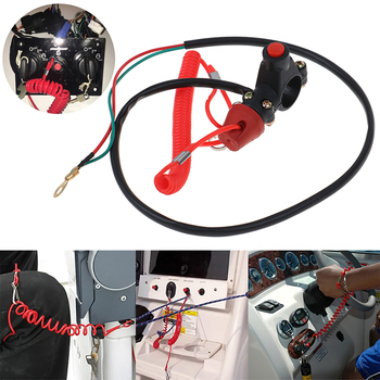 Boat Motor Emergency Kill Stop Switch Outboard Cut off Switch Safety Tether Lanyard for Tether Lanyard Protect