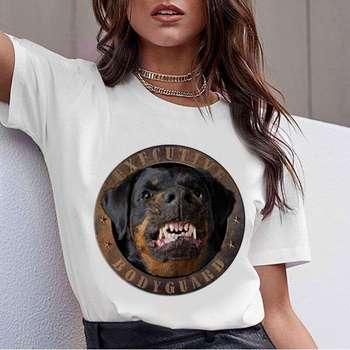 Bull Terrier Kawaii T Shirt Women Print Puppy Funny T-shirt Cute Tshirt Female