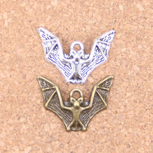 80pcs Charms flying bat vampire dracula halloween 17x23mm Antique Pendants,Vintage Tibetan Silver Jewelry,DIY for necklace